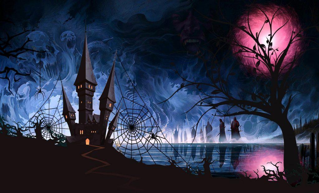 Castle Cobweb Halloween Fantasy - ParallelVision / Pixabay