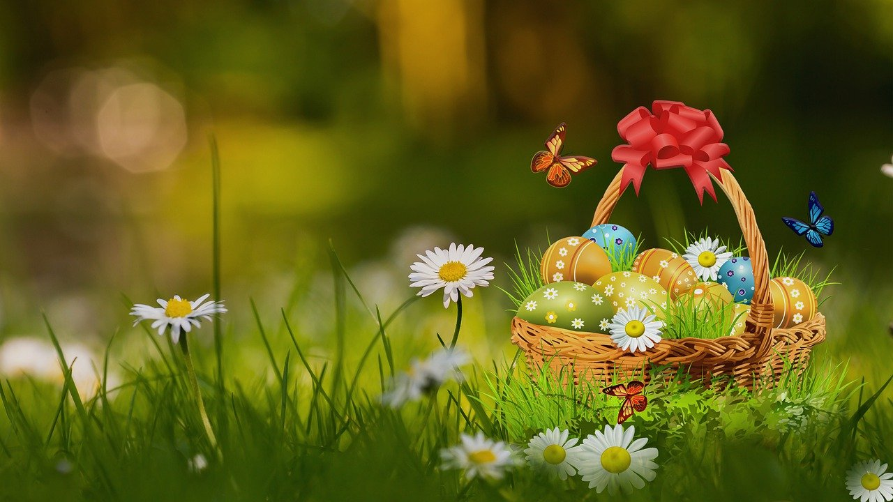 Eggs Flowers Basket Butterflies  - marucha / Pixabay